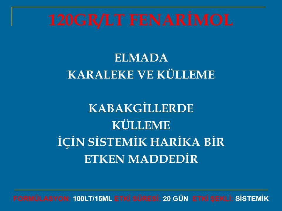 120GR/LT FENARİMOL ELMADA KARALEKE VE KÜLLEME KABAKGİLLERDE KÜLLEME