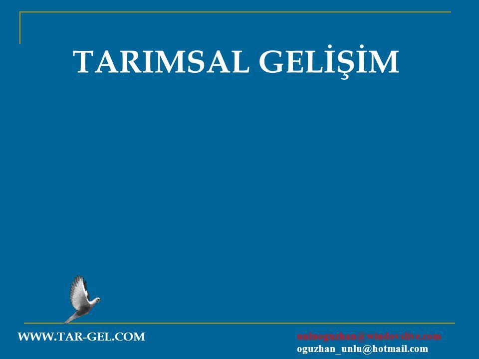 TARIMSAL GELİŞİM WWW.TAR-GEL.COM unluoguzhan@windovslive.com