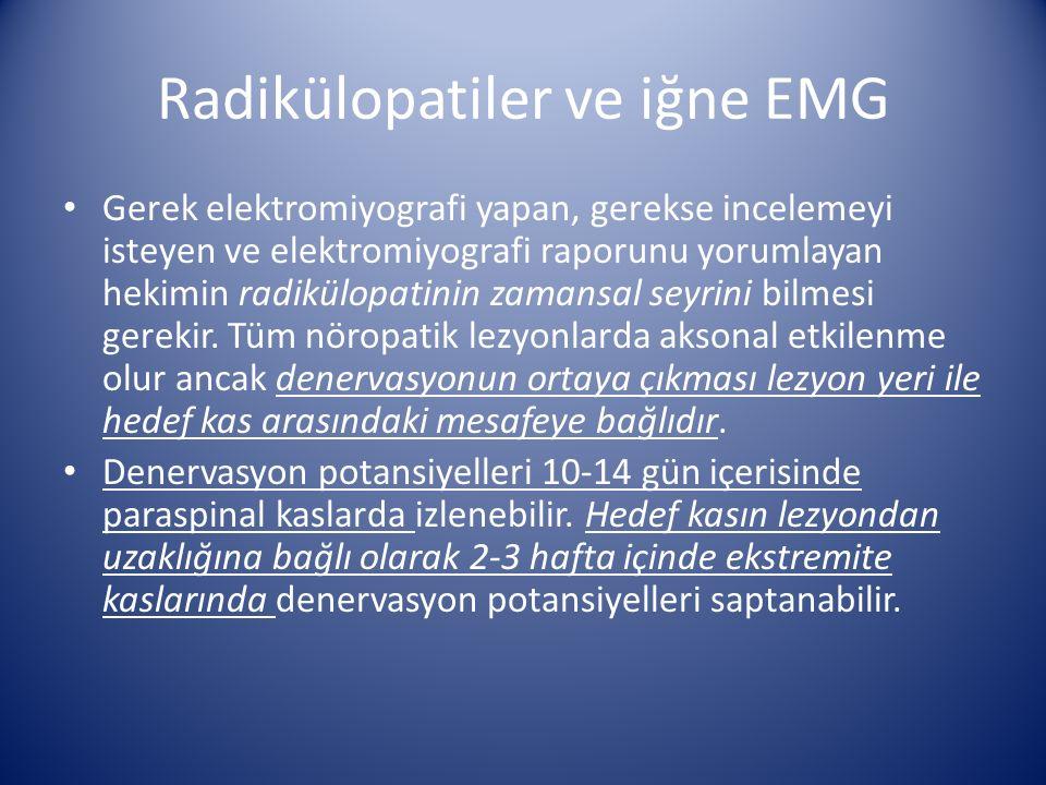 Radikülopatiler ve iğne EMG