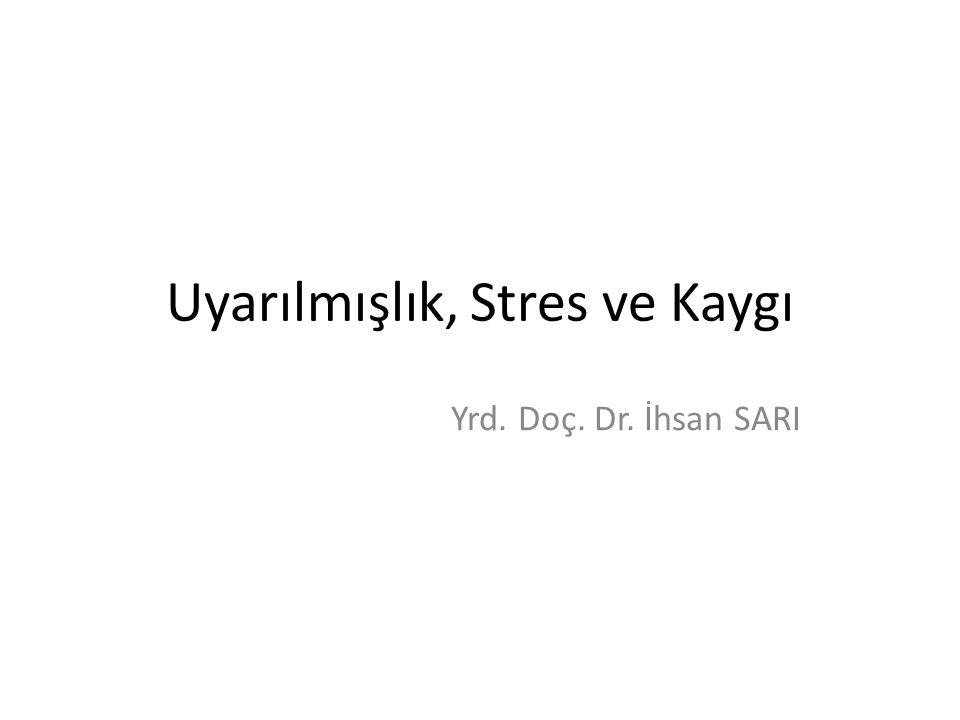 Uyarılmışlık, Stres ve Kaygı