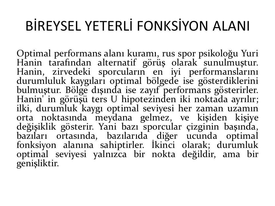 BİREYSEL YETERLİ FONKSİYON ALANI