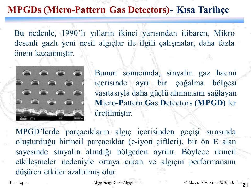 MPGDs (Micro-Pattern Gas Detectors)- Kısa Tarihçe