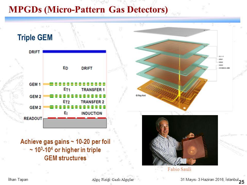 MPGDs (Micro-Pattern Gas Detectors) Achieve gas gains ~ 10-20 per foil