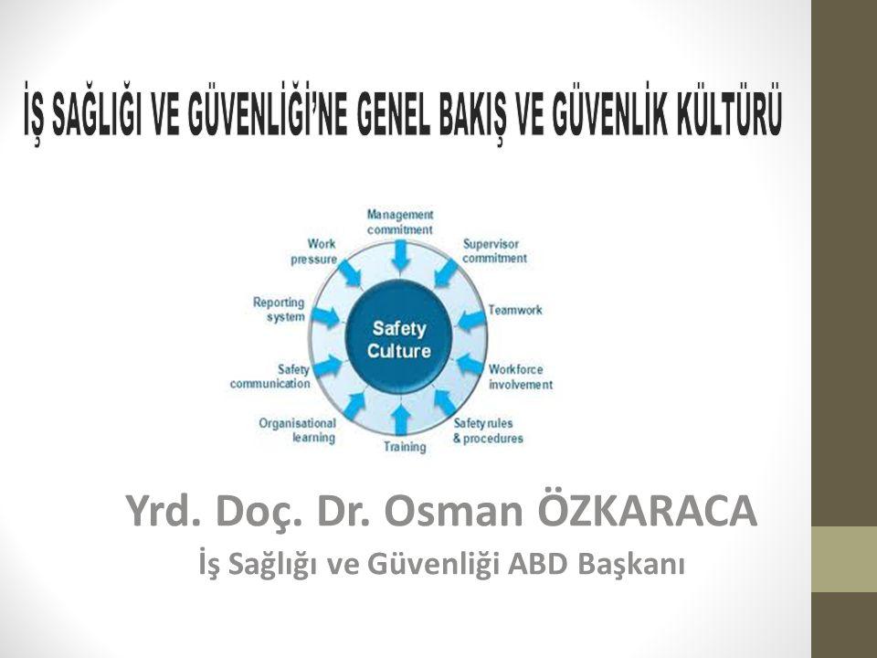 Yrd. Doç. Dr. Osman ÖZKARACA İş Sağlığı ve Güvenliği ABD Başkanı