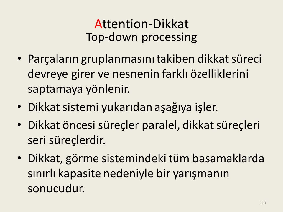 Attention-Dikkat Top-down processing