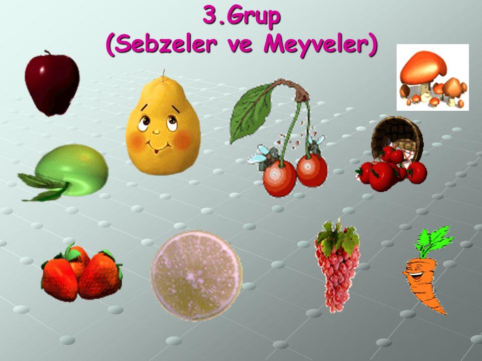 3.Grup (Sebzeler ve Meyveler)