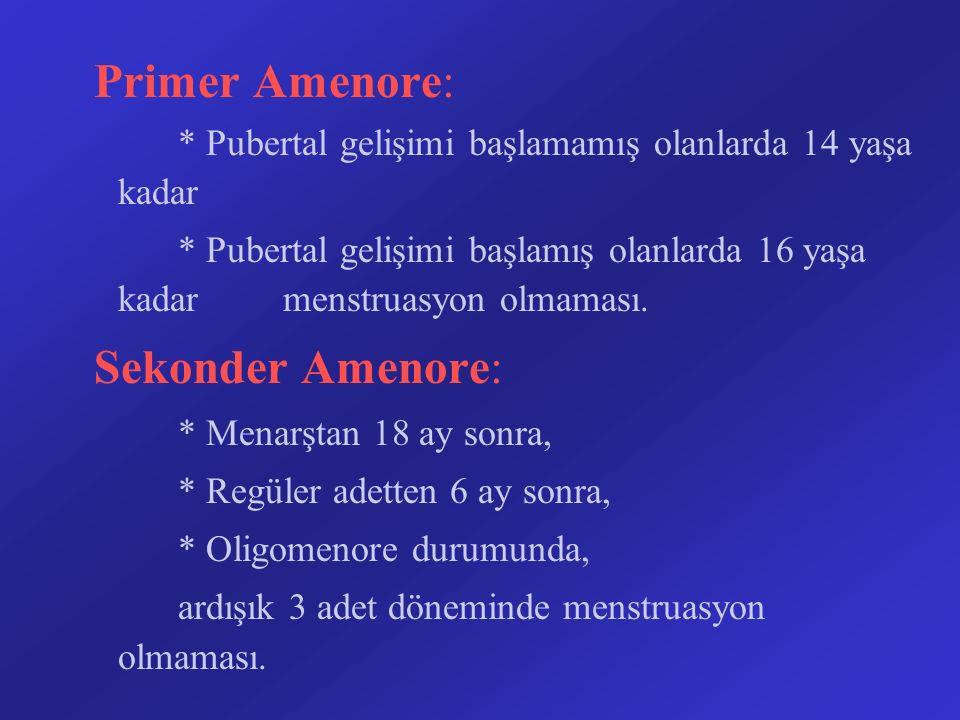 Primer Amenore: Sekonder Amenore: