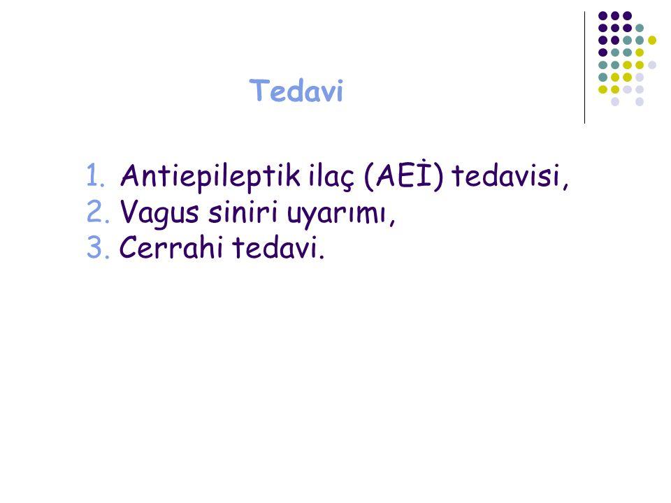 Tedavi Antiepileptik ilaç (AEİ) tedavisi, Vagus siniri uyarımı, Cerrahi tedavi.