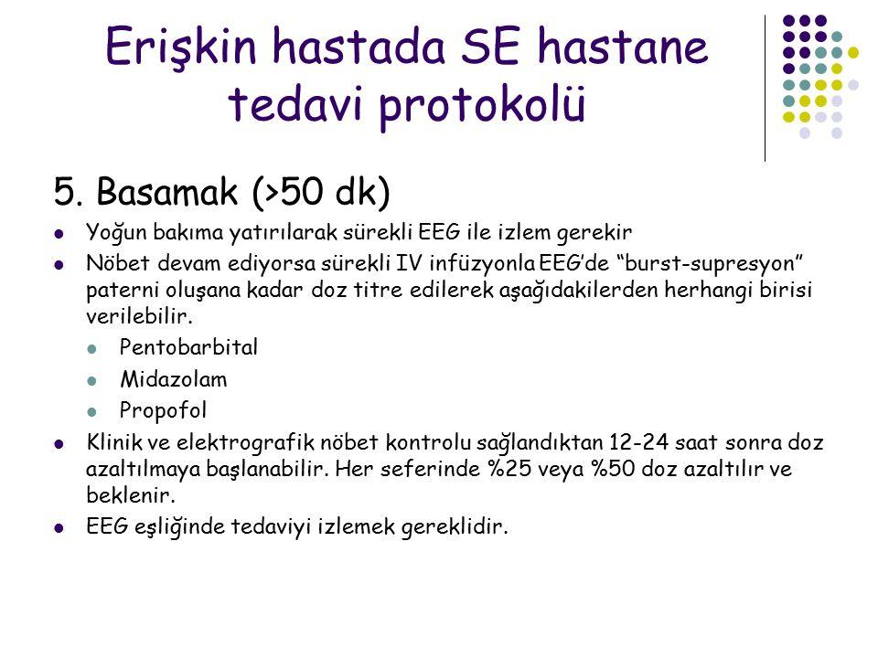 Erişkin hastada SE hastane tedavi protokolü