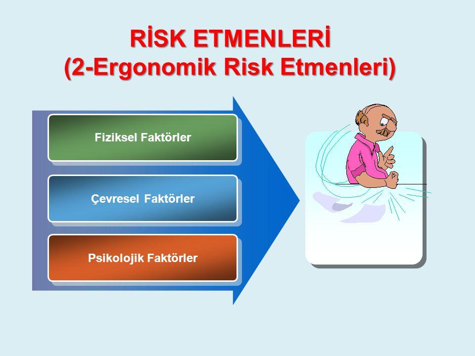 RİSK ETMENLERİ (2-Ergonomik Risk Etmenleri)