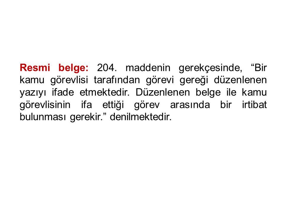 Resmi belge: 204.