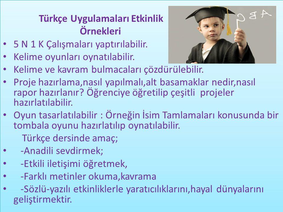 Türkçe Uygulamaları Etkinlik