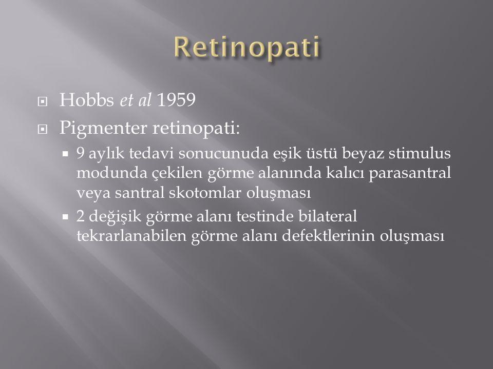 Retinopati Hobbs et al 1959 Pigmenter retinopati:
