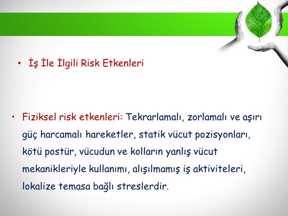 İş İle İlgili Risk Etkenleri