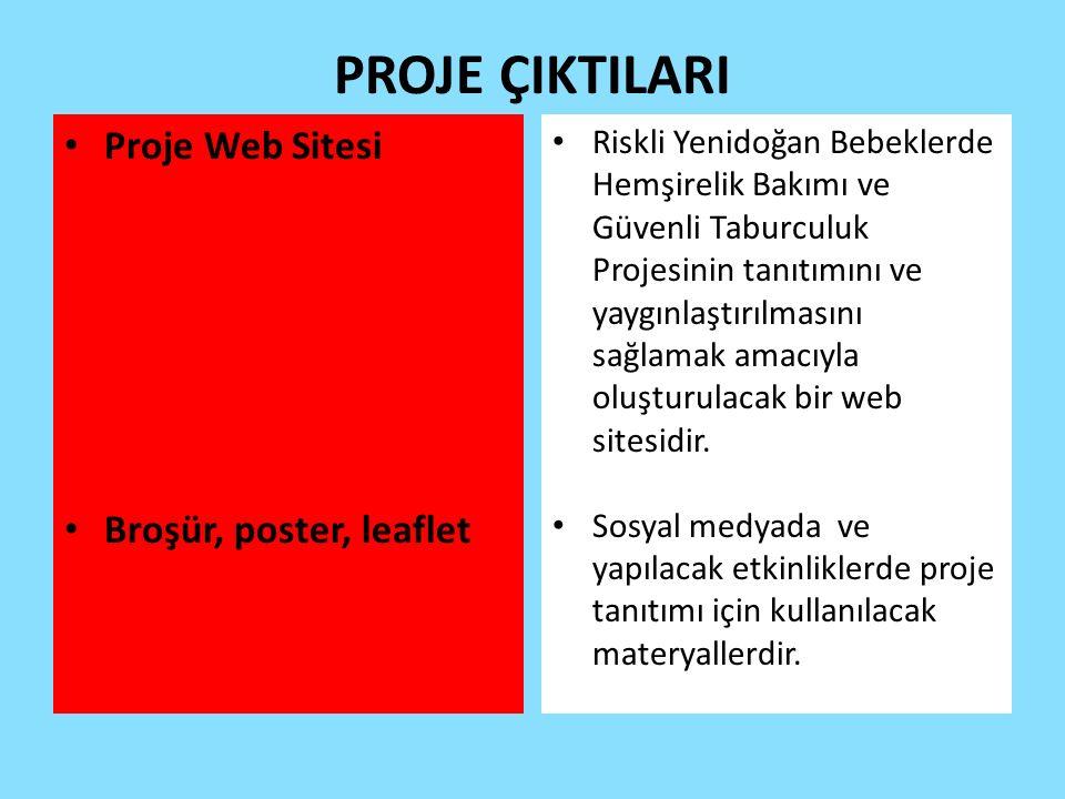 PROJE ÇIKTILARI Proje Web Sitesi Broşür, poster, leaflet