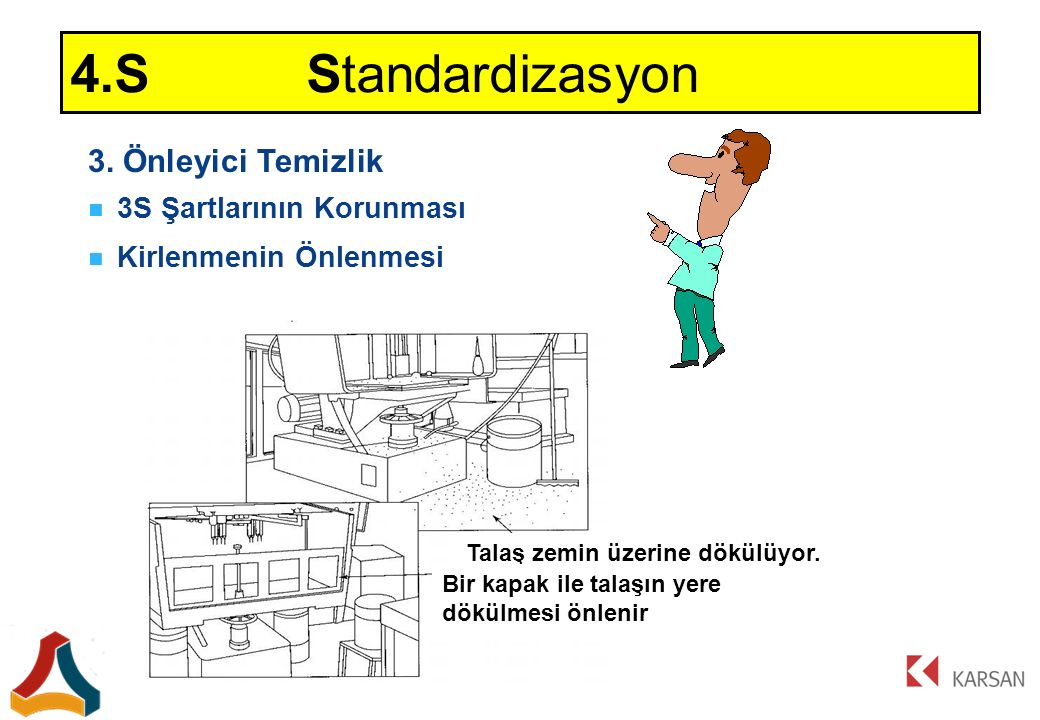 4.S Standardizasyon 3. Önleyici Temizlik 3S Şartlarının Korunması