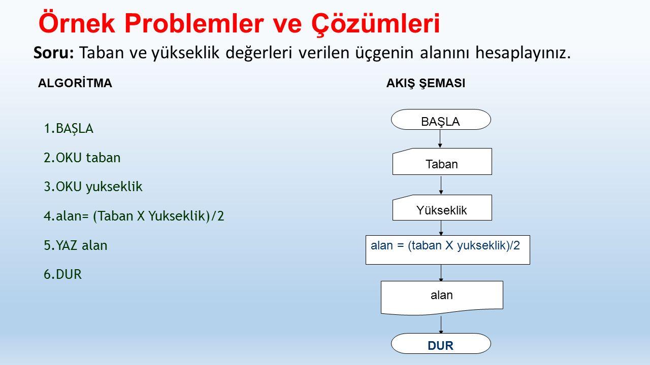 Örnek Problemler ve Çözümleri
