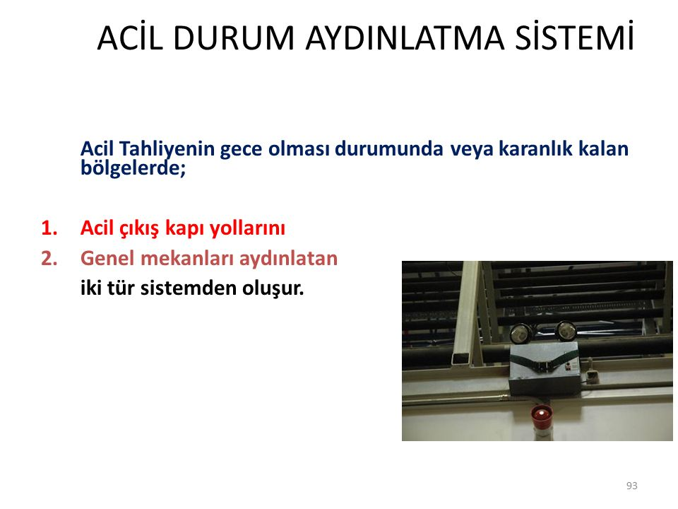 ACİL DURUM AYDINLATMA SİSTEMİ