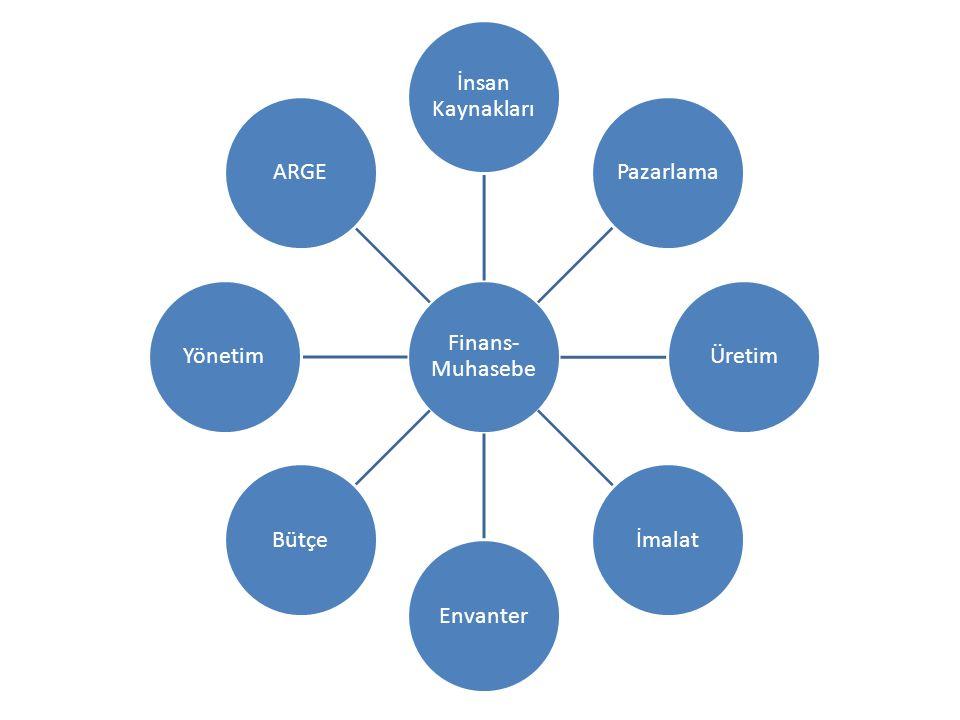 Finans- Muhasebe İnsan Kaynakları Pazarlama Üretim İmalat Envanter Bütçe Yönetim ARGE