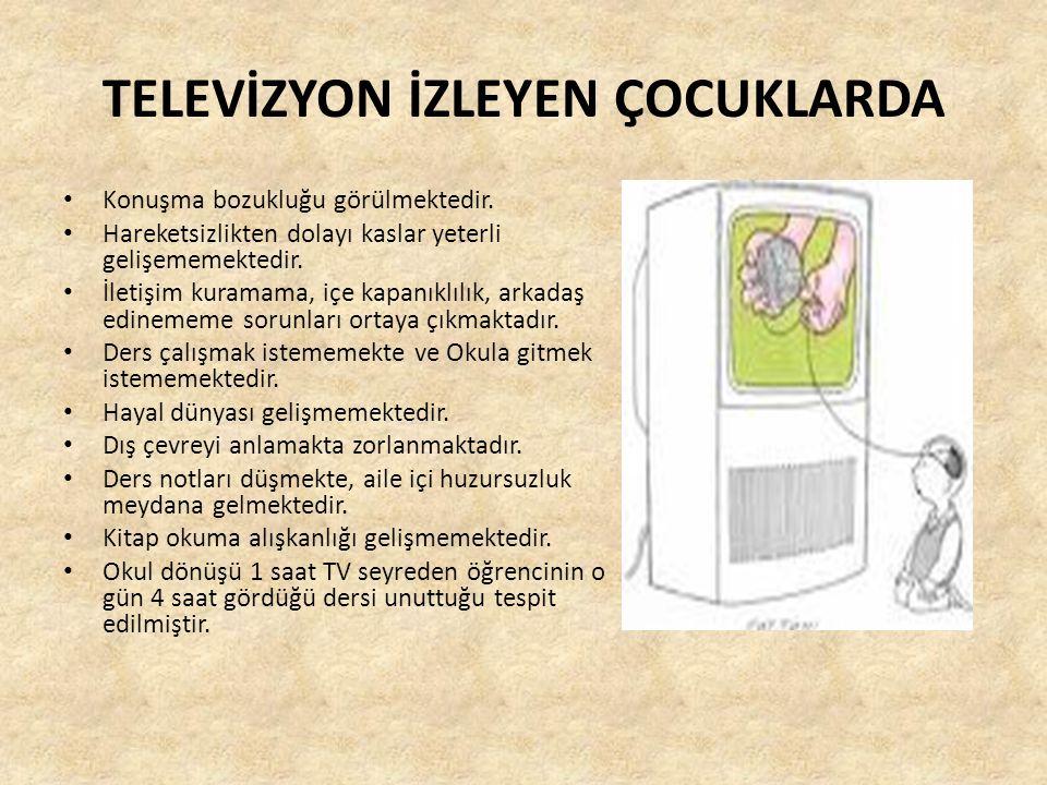 TELEVİZYON İZLEYEN ÇOCUKLARDA