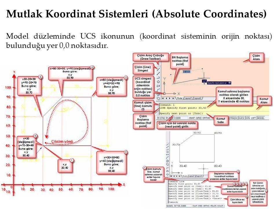 Mutlak Koordinat Sistemleri (Absolute Coordinates)