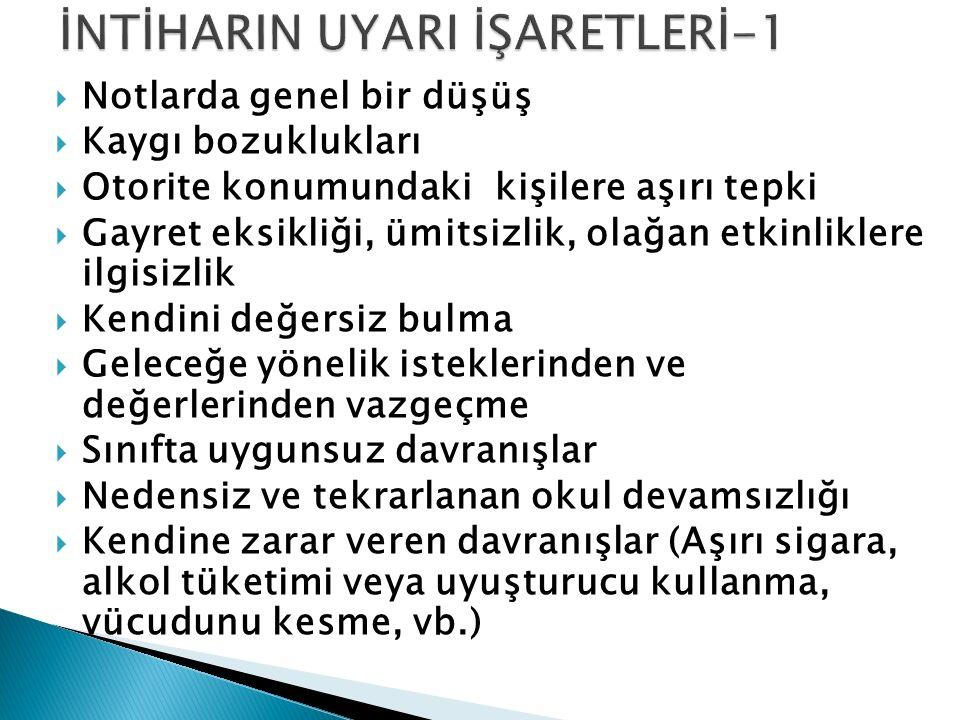 İNTİHARIN UYARI İŞARETLERİ-1