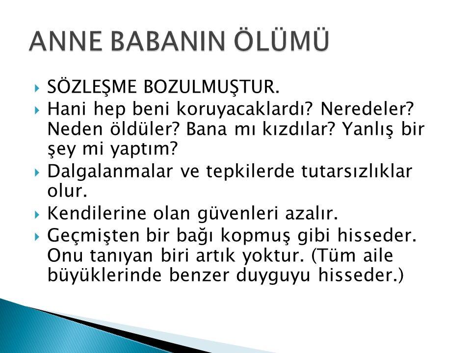 ANNE BABANIN ÖLÜMÜ SÖZLEŞME BOZULMUŞTUR.