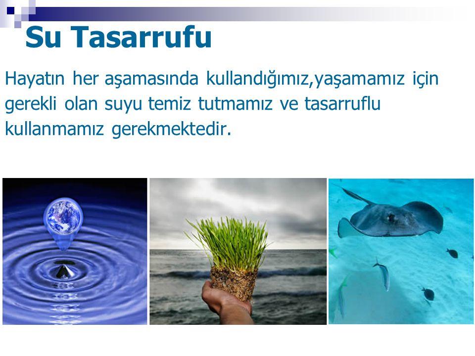 Su Tasarrufu Hayatın her aşamasında kullandığımız,yaşamamız için