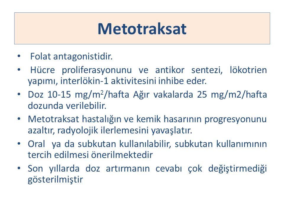 Metotraksat Folat antagonistidir.