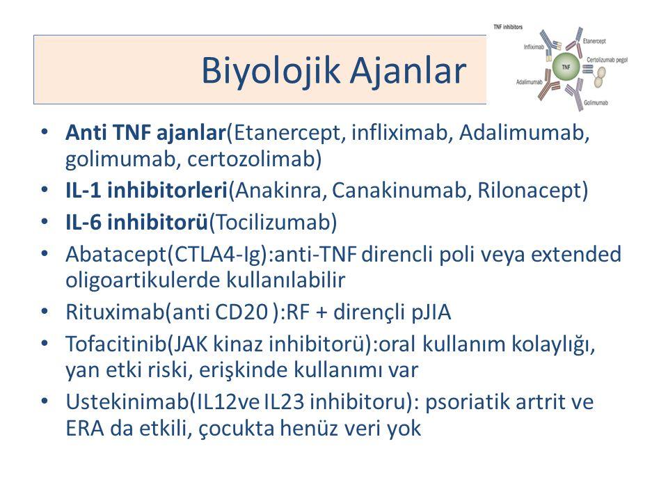Biyolojik Ajanlar Anti TNF ajanlar(Etanercept, infliximab, Adalimumab, golimumab, certozolimab)