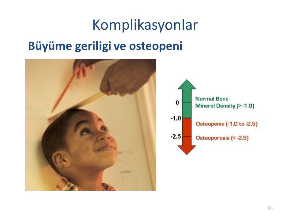 Komplikasyonlar Büyüme geriligi ve osteopeni