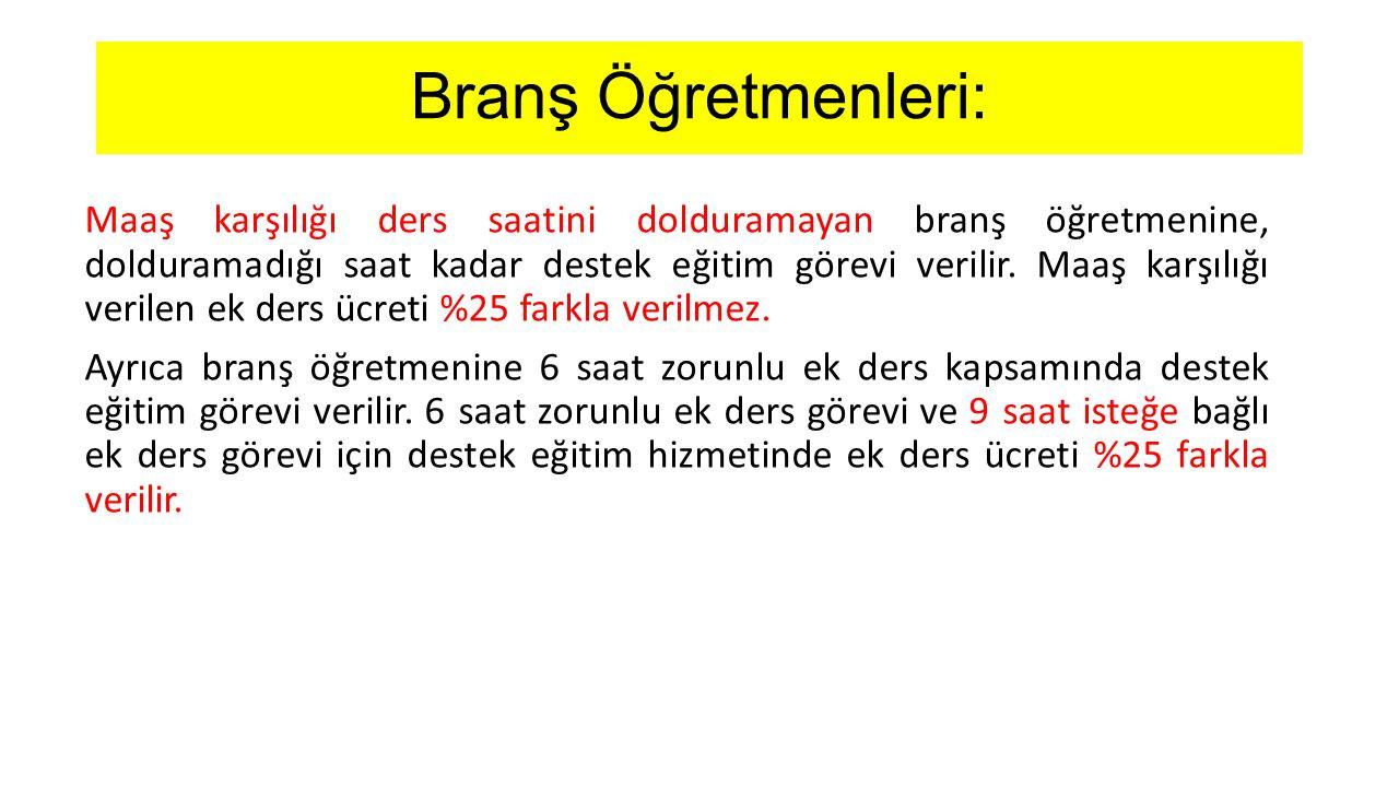 Branş Öğretmenleri: