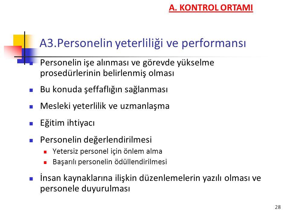 A3.Personelin yeterliliği ve performansı