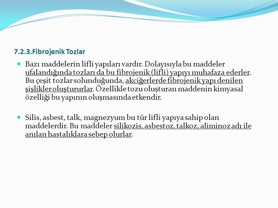 7.2.3.Fibrojenik Tozlar