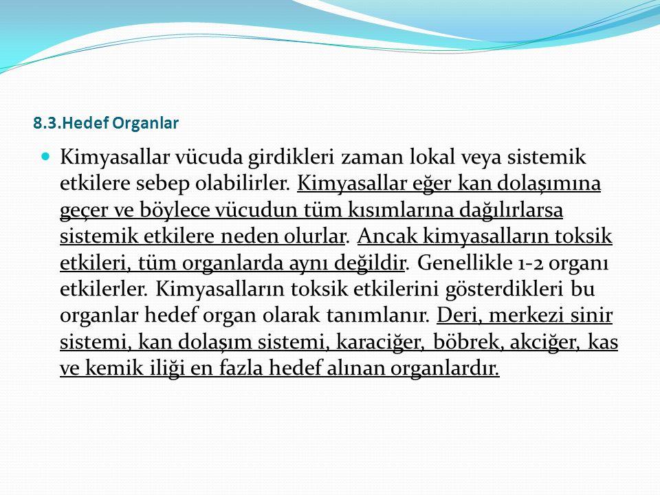 8.3.Hedef Organlar