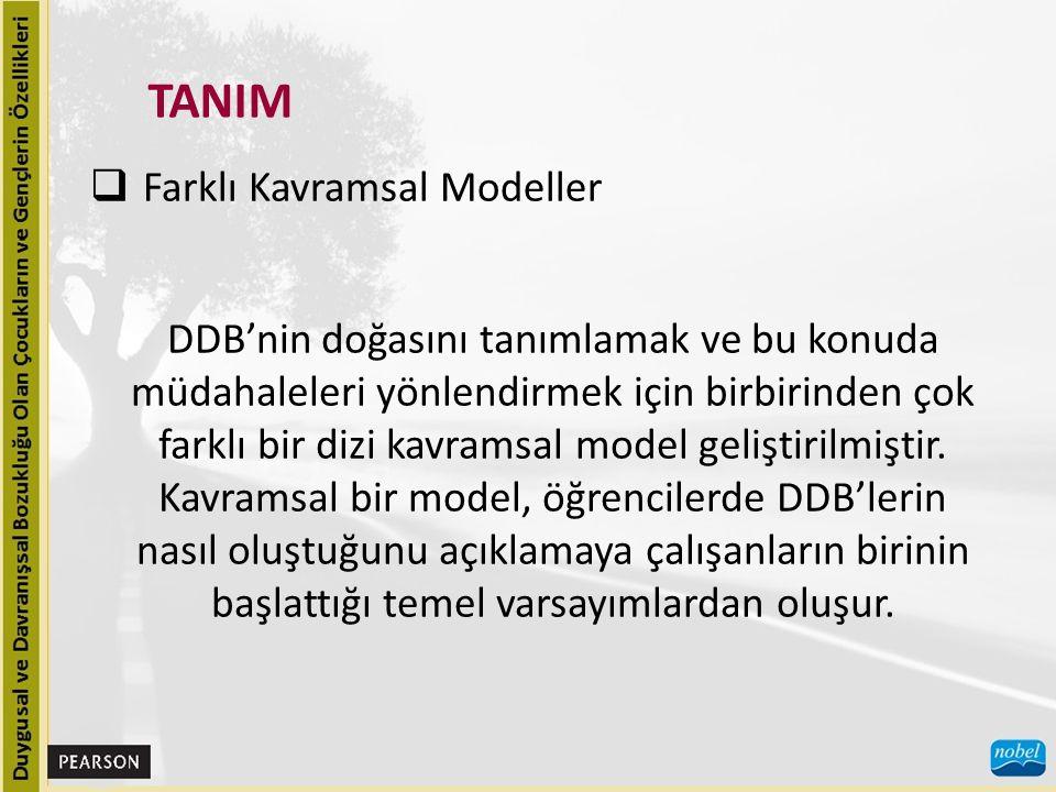 TANIM Farklı Kavramsal Modeller