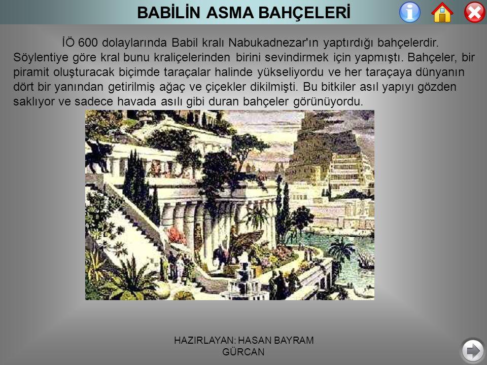 BABİLİN ASMA BAHÇELERİ