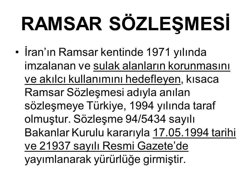 RAMSAR SÖZLEŞMESİ