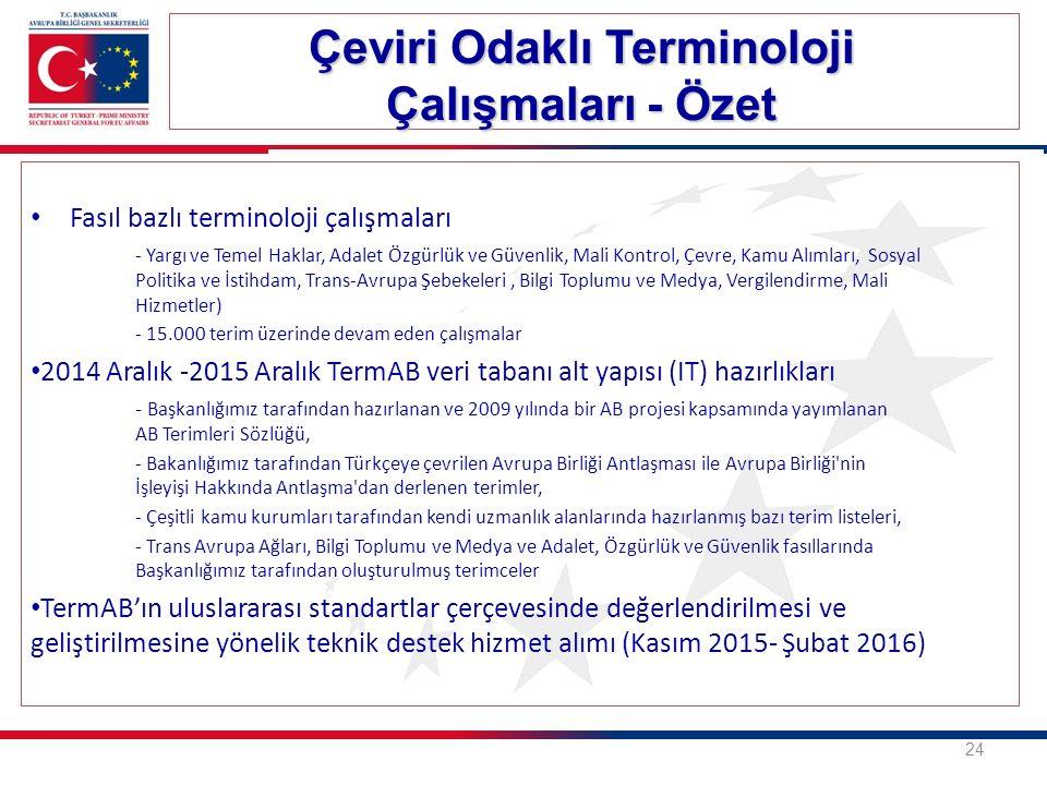 Çeviri Odaklı Terminoloji Çalışmaları - Özet