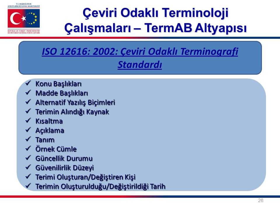 Çeviri Odaklı Terminoloji Çalışmaları – TermAB Altyapısı