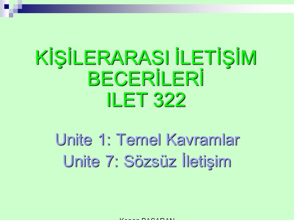 KİŞİLERARASI İLETİŞİM BECERİLERİ ILET 322
