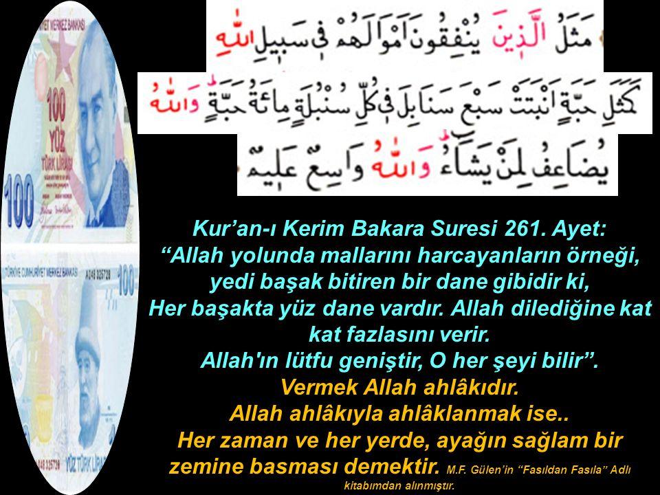 Kur'an-ı Kerim Bakara Suresi 261. Ayet: