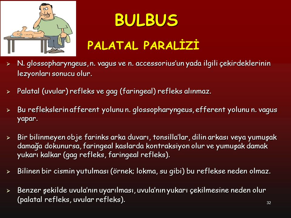 BULBUS PALATAL PARALİZİ