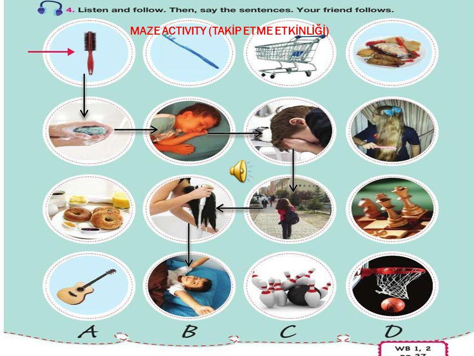 MAZE ACTIVITY (TAKİP ETME ETKİNLİĞİ)