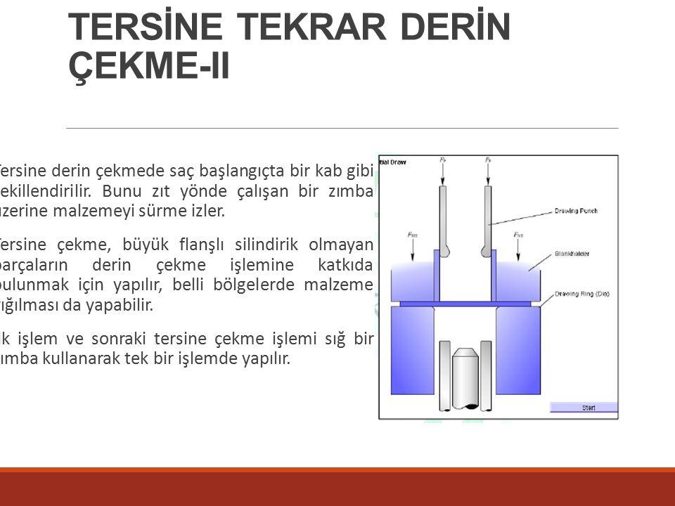 TERSİNE TEKRAR DERİN ÇEKME-II