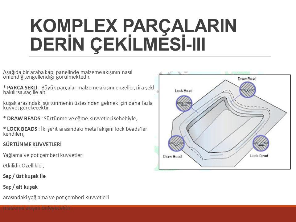 KOMPLEX PARÇALARIN DERİN ÇEKİLMESİ-III