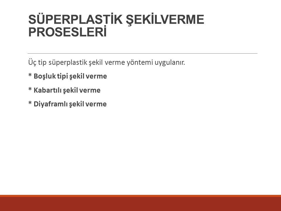 SÜPERPLASTİK ŞEKİLVERME PROSESLERİ
