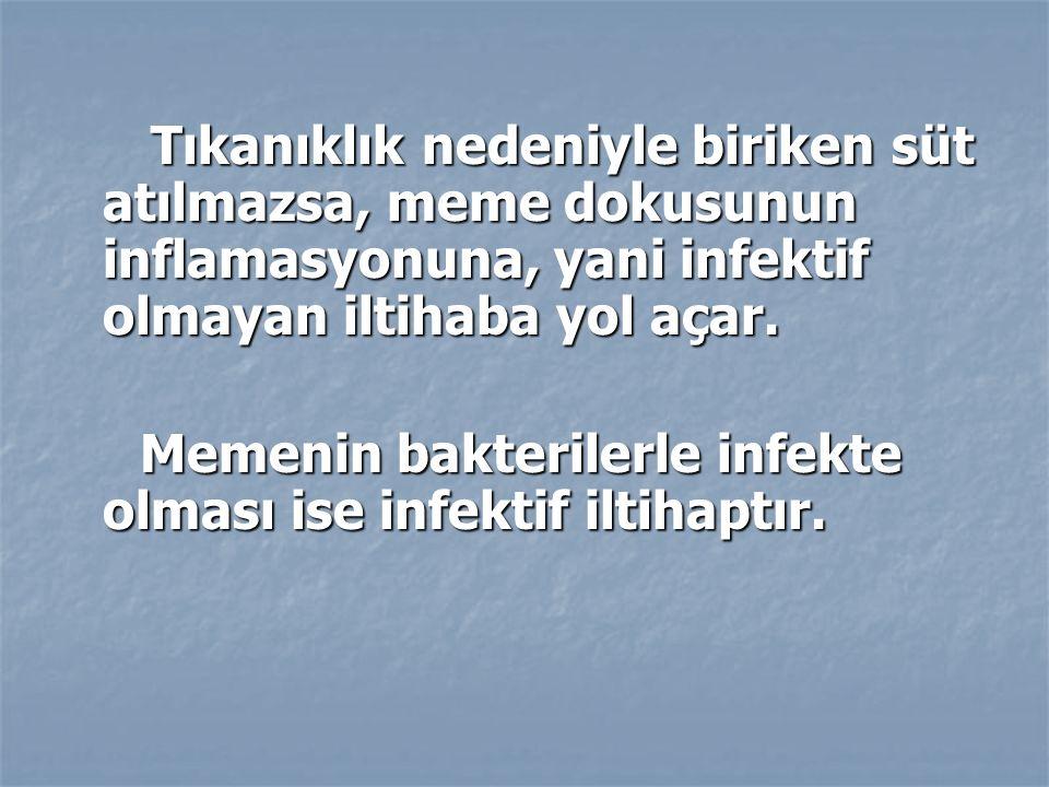 Memenin bakterilerle infekte olması ise infektif iltihaptır.
