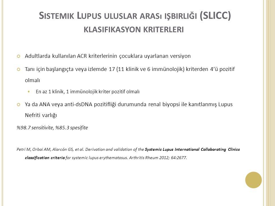 Sistemik Lupus uluslar arası işbirliği (SLICC) klasifikasyon kriterleri