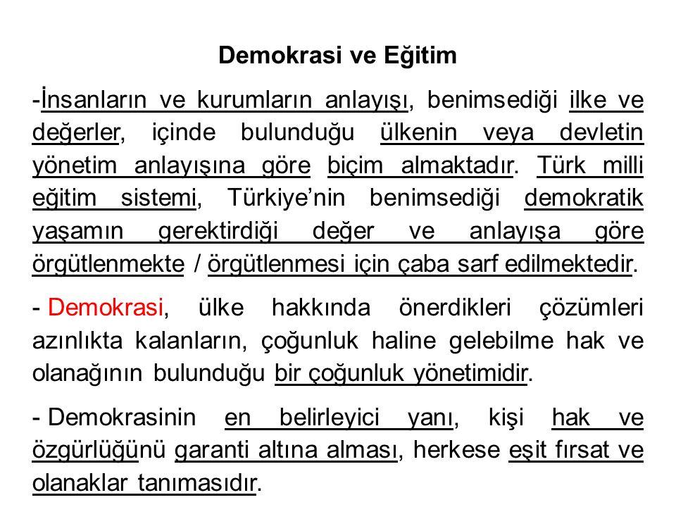 Demokrasi ve Eğitim